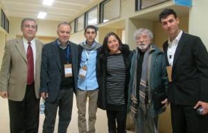 Humberto Maturana con organizadores