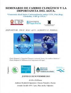 Afiche Charlas Magistrales Alberto Ferral - UBP Argentina